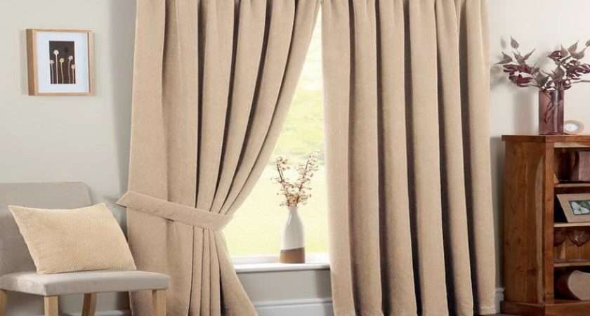 Ready Made Blackout Curtains Chenille Spot