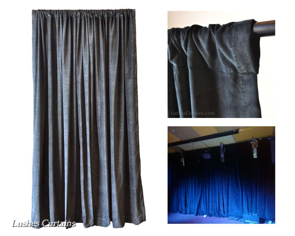 Ready Made Cotton Velvet Curtain Panels Lushes Curtains