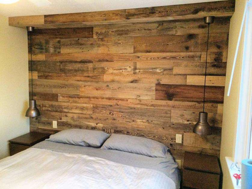 Reclaimed Grey Barn Board Feature Wall