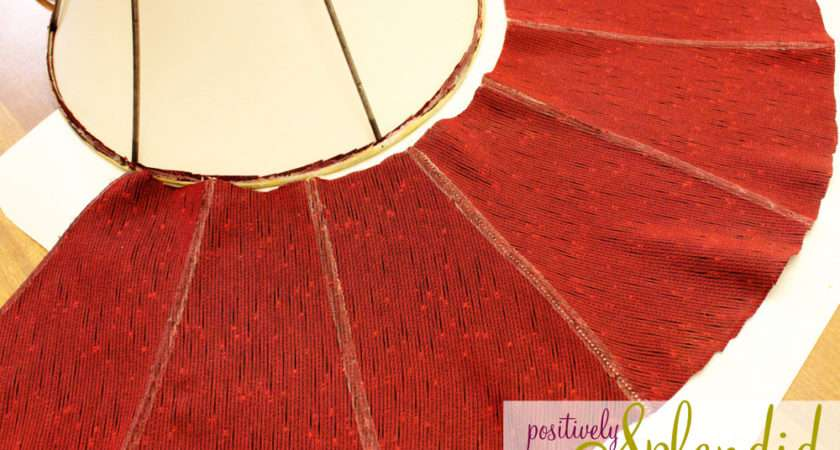 Recover Lampshade Positively Splendid Crafts Sewing