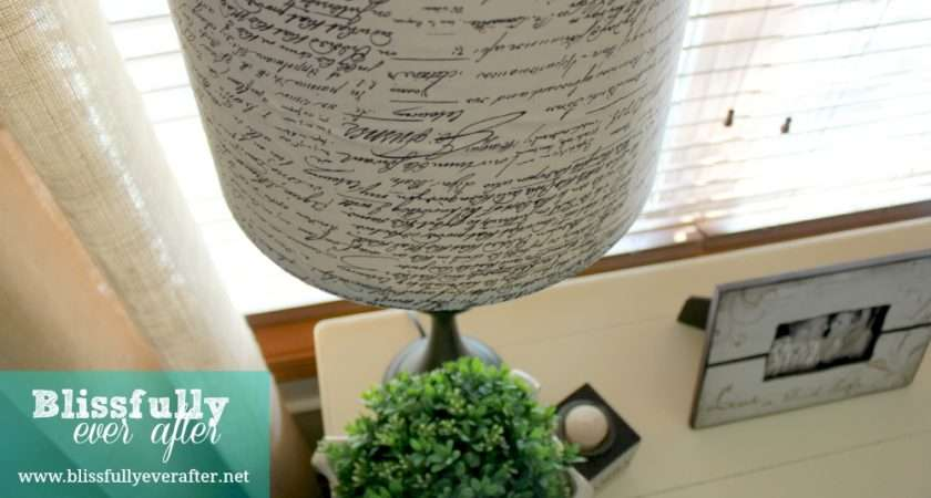 Recover Lampshade Tutorial Blissfully Ever After