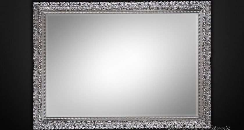 Rectangular Silver Wall Mirrors Ornamental Limited