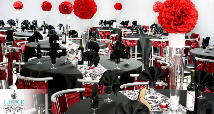 Red Black Wedding Decorations Tropicaltanning Info