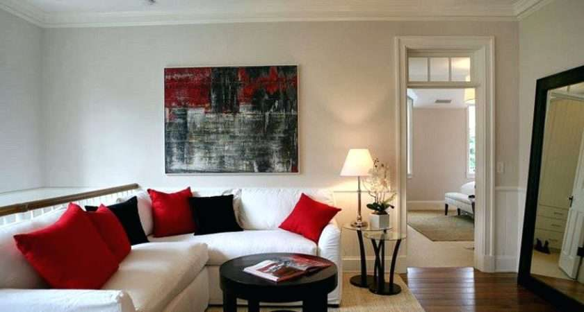Red Black White Living Room Decorating Ideas Brown