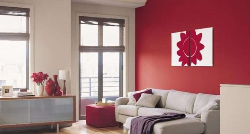Red Box Dulux Colour Feature Wall New Painting Apartment