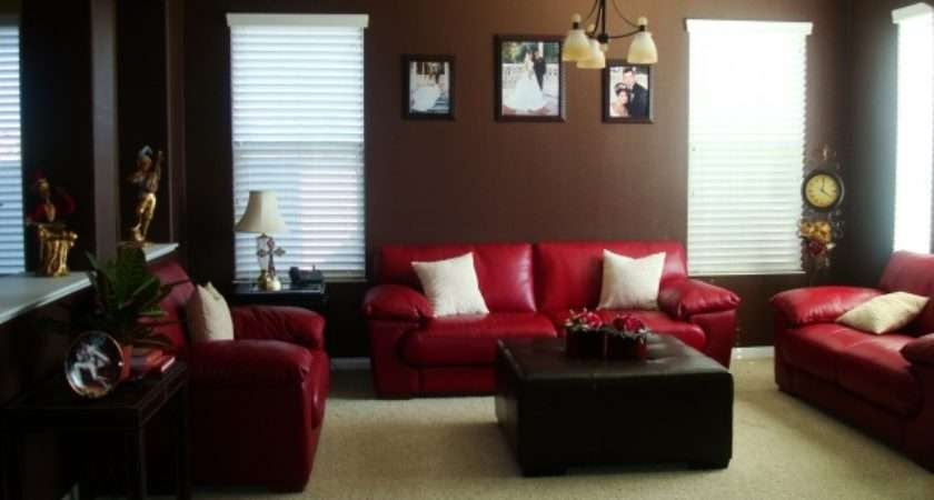 Red Brown Living Room Decorating Ideas