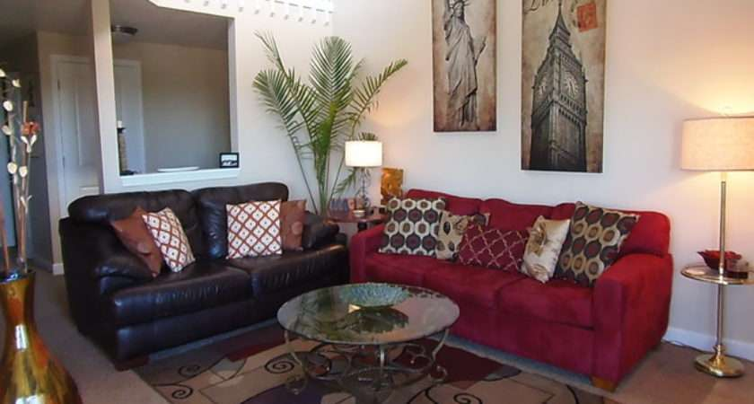 Red Brown Living Room Ideas