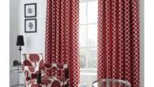 Red Chenille Eyelet Curtains