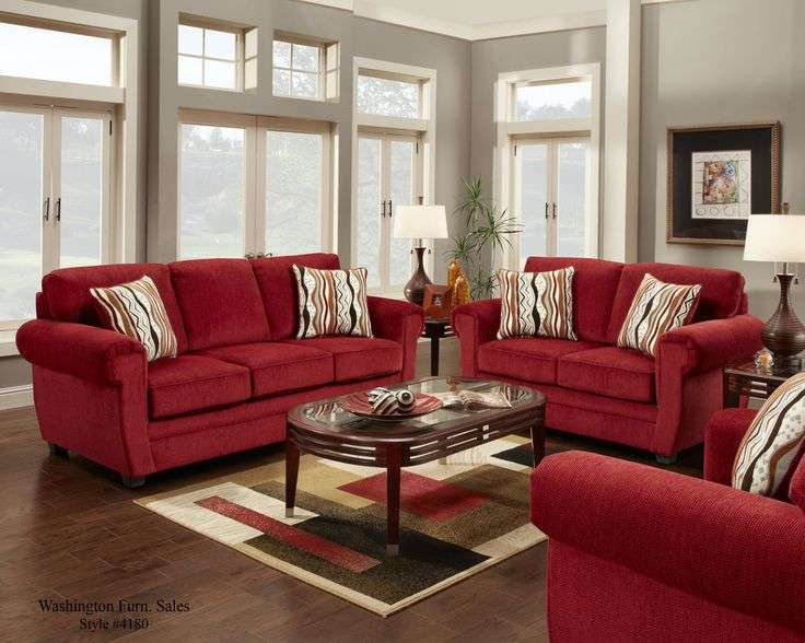 Red Couch Decorating Ideas Sofa Design Living Room