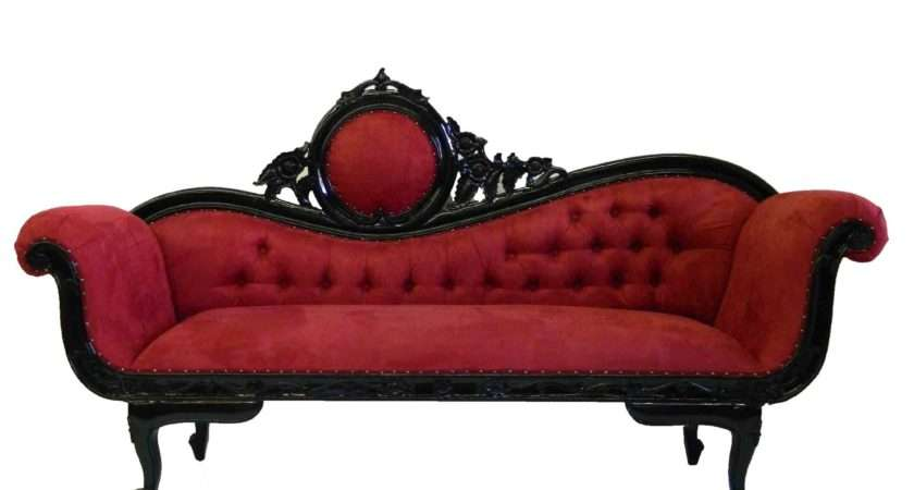 Red Couch Sofa Victorian Goth Gothic Furniture Decor Followpics