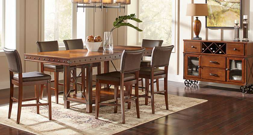 Red Hook Pecan Counter Height Dining Room