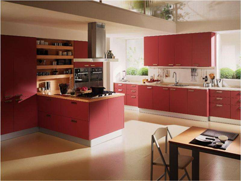 Red Kitchen Decorating Ideas Charming