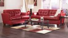 Red Leather Sofa Decorating Ideas Living