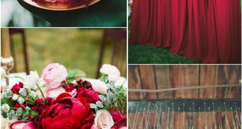 Red Wedding Color Ideas Fall Winter Theme