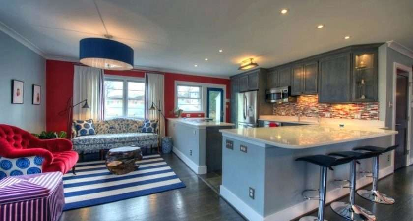 Red White Blue Living Room Ideas Kitchen