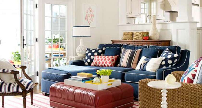 Red White Blue Rooms Classic Contemporary