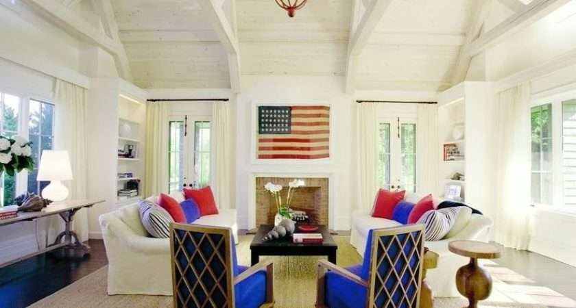Red White Blue Rooms Don Look Like Flag