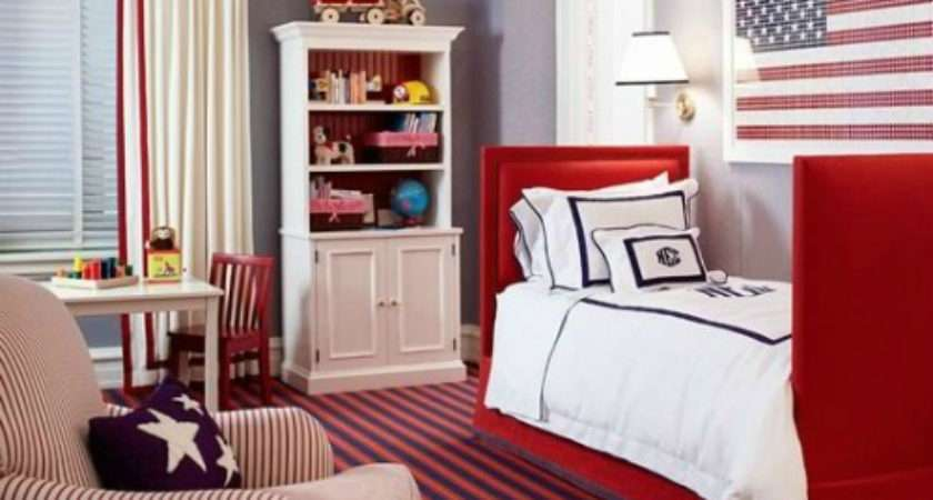 Red White Blue Toddler Rooms