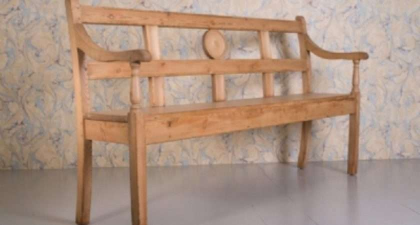 Regency Pine Antique Hall Bench Miles Griffiths Antiques