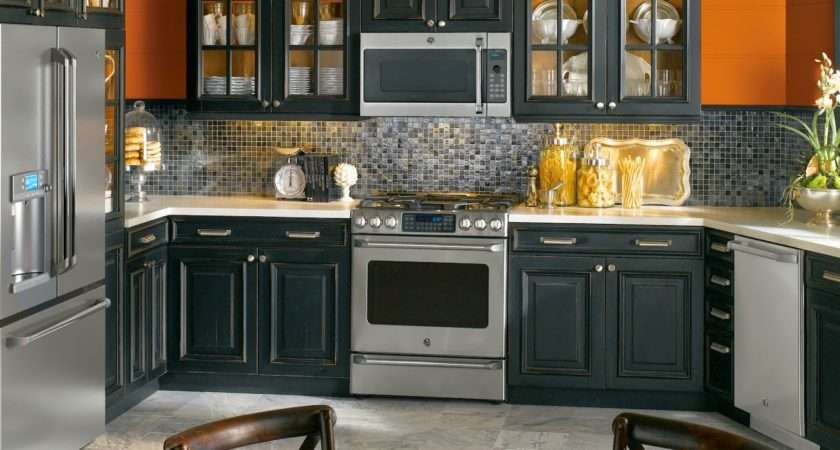 Related Contemporary Kitchen Ideas Black Appliances