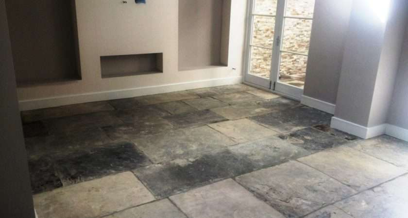 Restoration Extremely Dirty Yorkstone Tiled Floor