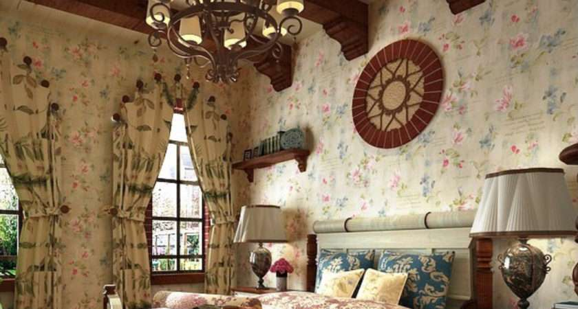 Retro Country Style Pastoral Curtain New Bedroom