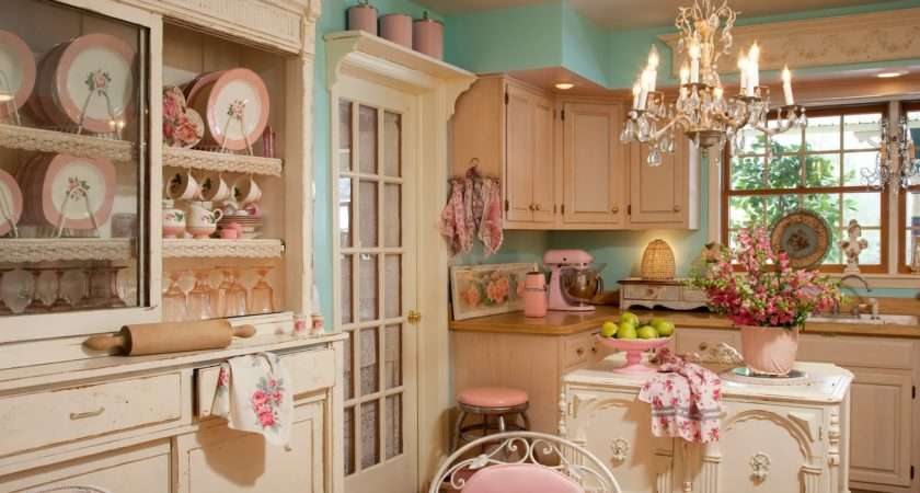 Retro Kitchen Decor Chandelier Shabby Chic Chairs Wall Unit Pin
