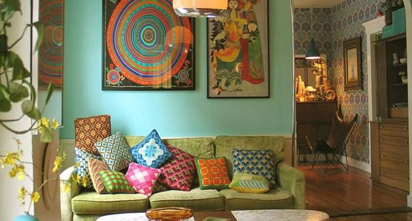 Retro Style Living Rooms Room Decorating