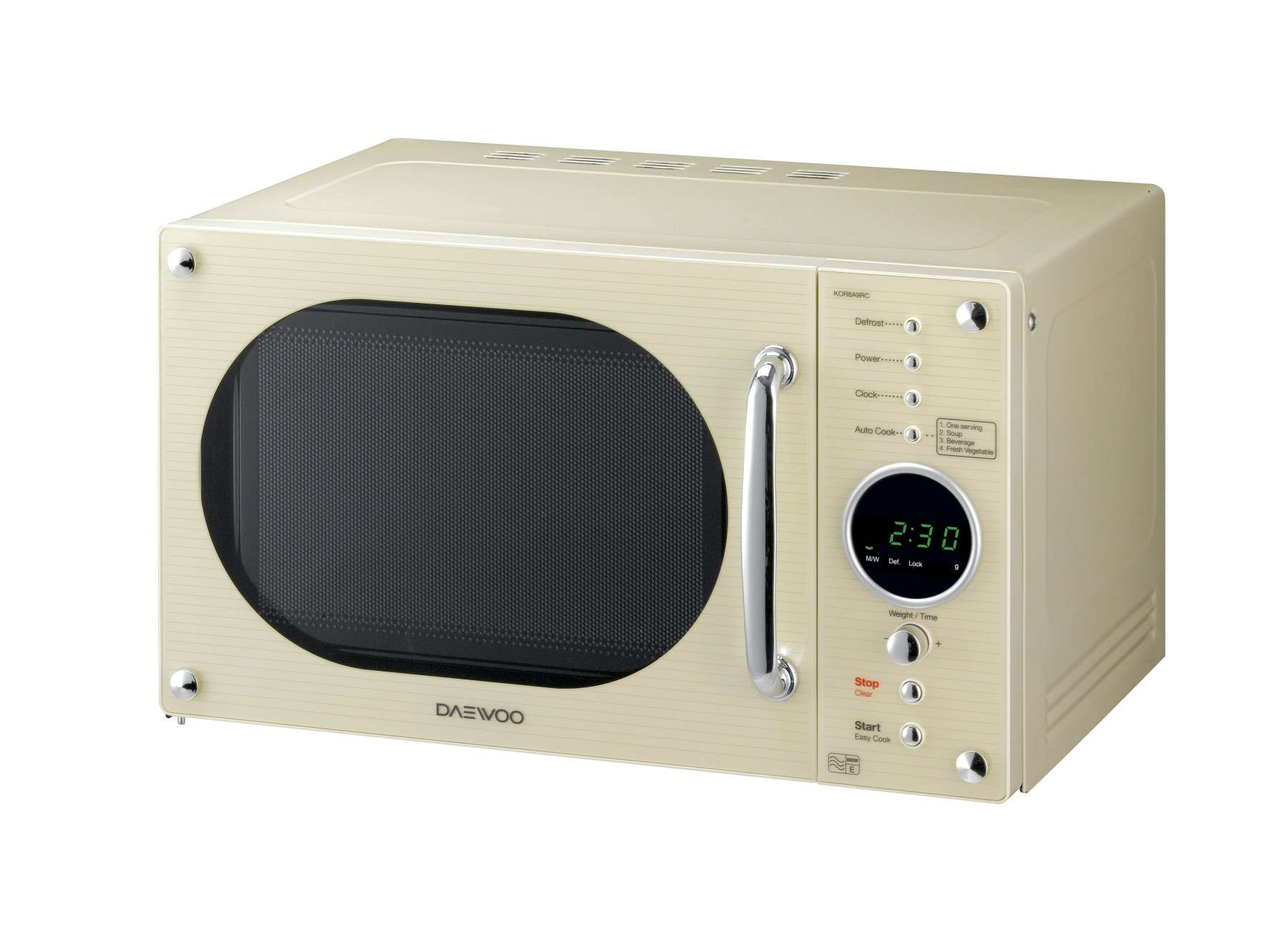 Retro Style Touch Control Microwave Daewoo Electronics
