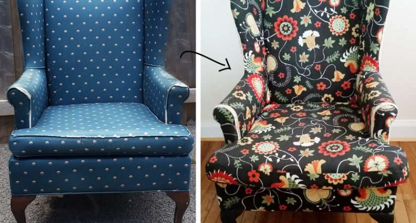 Reupholster Wing Back Chair Confessions