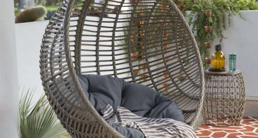 Review Wicker Hanging Chair Stand Island Bay