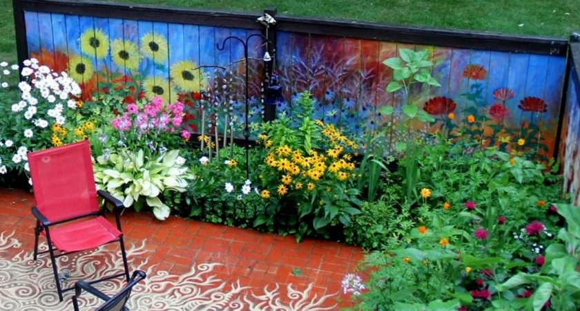 Revived Our Old Garden Fence Painting Vivid Flowers