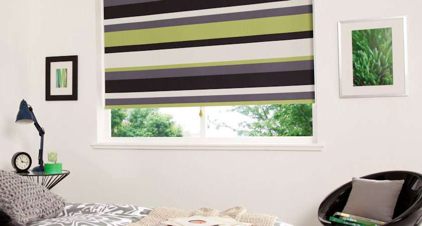 Rio Lime Striped Blackout Blinds