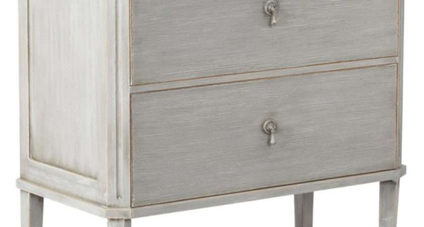 Rocca Painted Wood Chest Drawers Small Oka