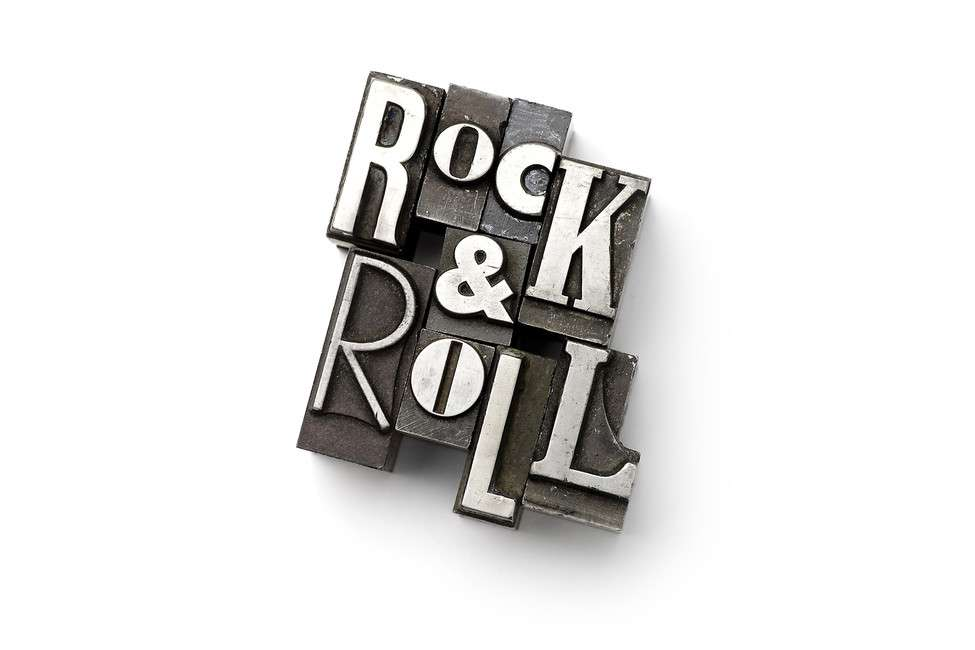 Rock Roll Lead Types Wall Mural Photowall