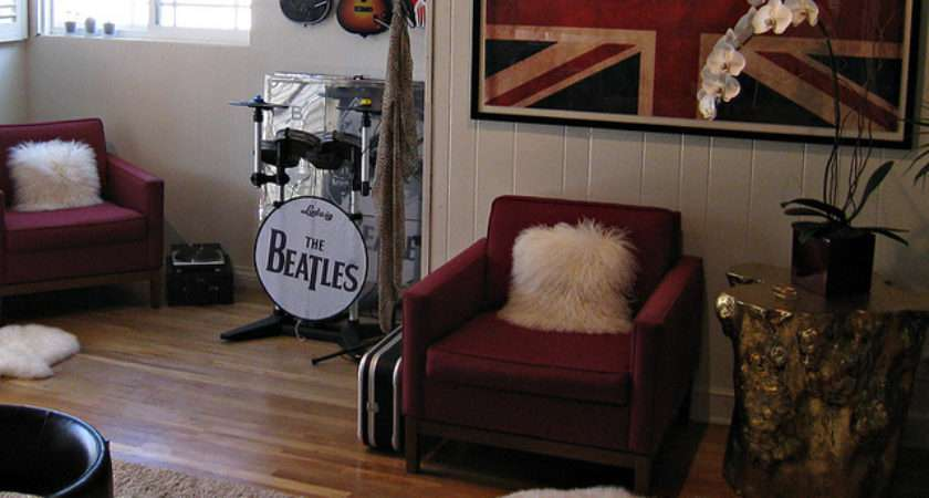 Rock Roll Video Game Room Decorating Ideas
