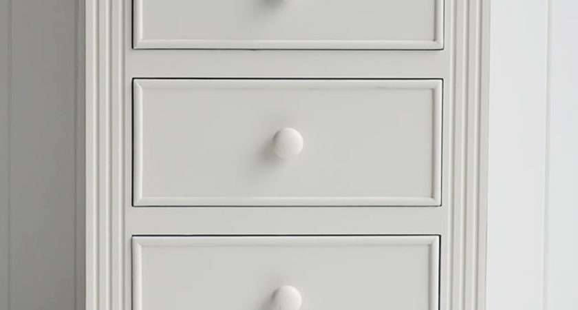 Rockport Ivory Tallboy Chest Drawers White