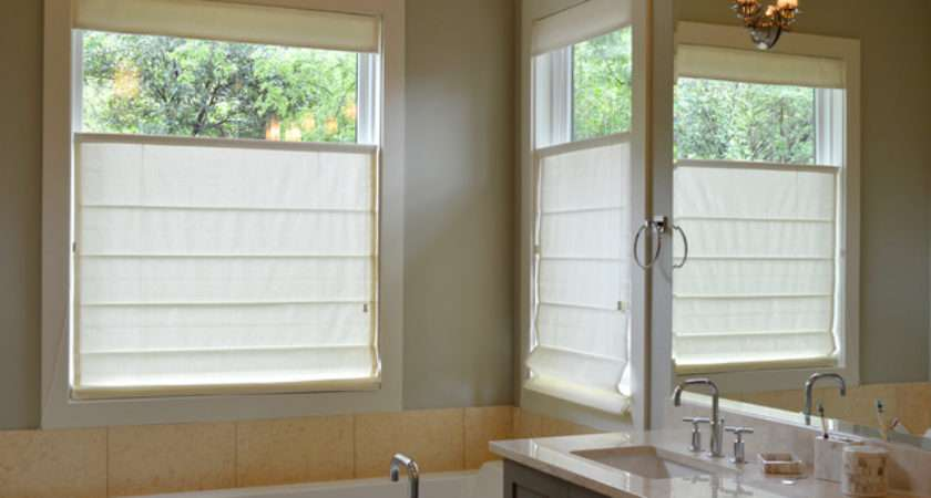 Roman Shades Austin Home Traditional Bathroom