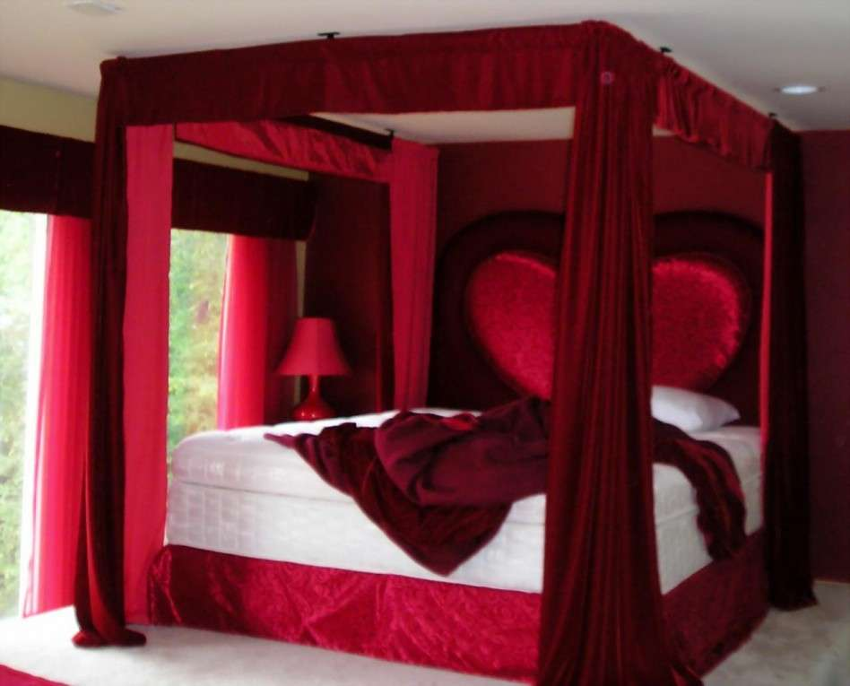 Romantic Bedroom Ideas Red Color World Inside