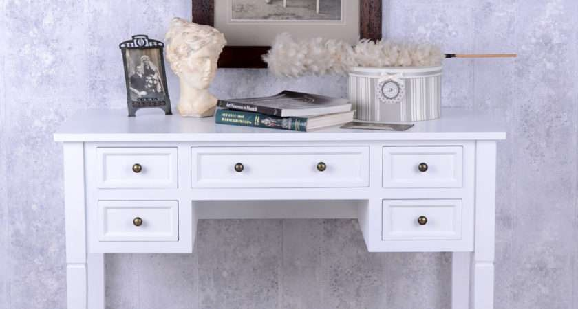 Romantic Console Desk Shabby Chic White Cottage Country House Style