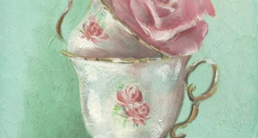 Romantic Country Rose Paintings