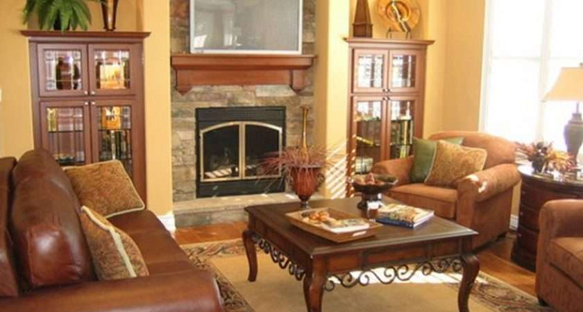 Room Fireplace Decorating Ideas Living