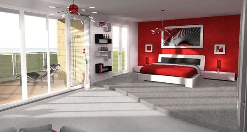 Room Walls Red White Grey Bedroom Ideas Home Design