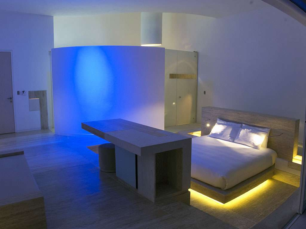 Rooms Also Aglow Vibrantly Hued Ambient Light Seen Here