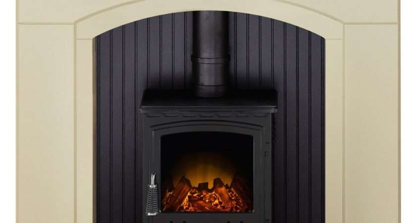 Rotherham Black Led Electric Stove Suite Departments