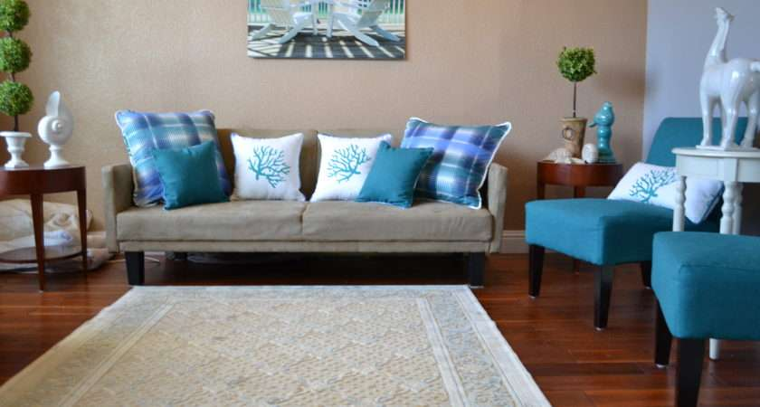 Rug Colors Room Beach Themed Living Rooms