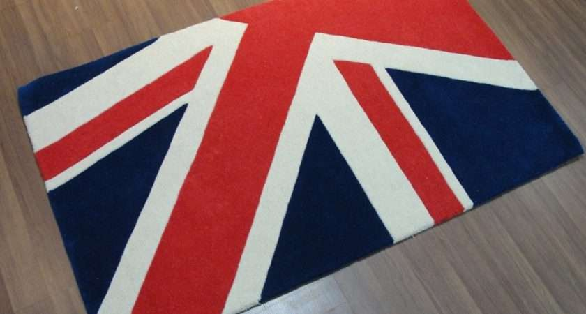 Rugs Hand Tufted Woollen Uniquely Designed Union Jack Rug