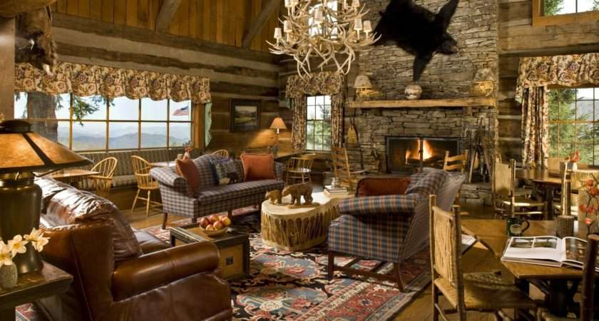 Rustic Living Room Country