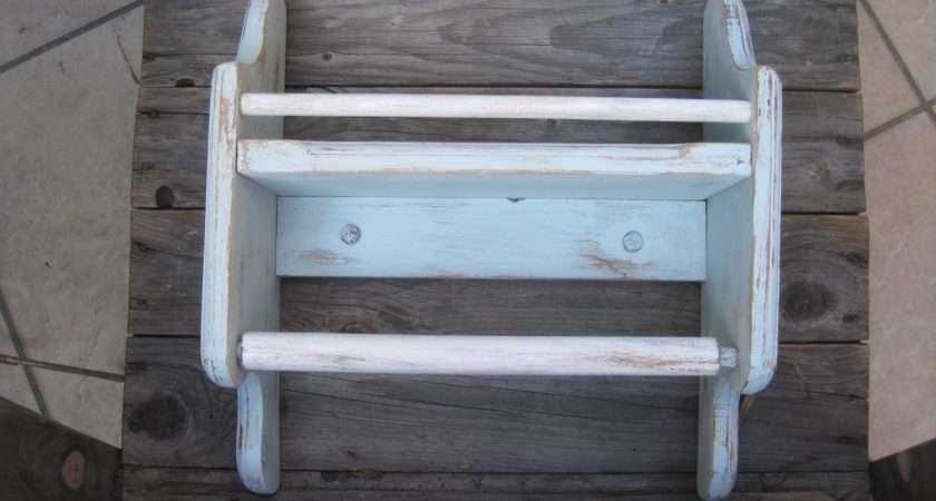 Rustic Shabby Chic Open Wall Cabinet Towel Bar Spinyourdream