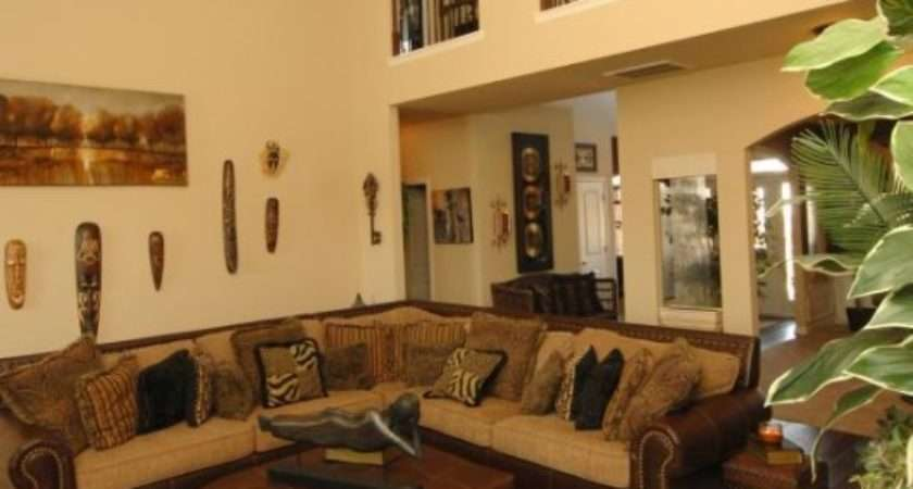 Safari Themed Living Room Brings New Nuance Your House